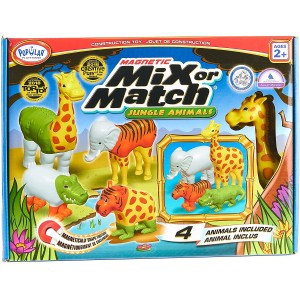 "Magnetinis konstravimo žaislas ""Mix or Match ANIMALS JUNGLE"""