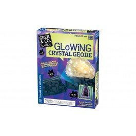 Geek & Co. Science mokslinis rinkinys Glowing Crystal Geode